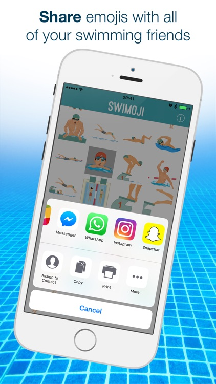 Swimoji: Swimming Emojis & Stickers for Swim Fans screenshot-3