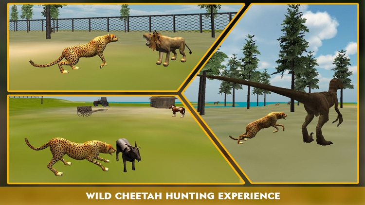 Wildlife cheetah Attack simulator 3D – Chase the wild animals, hunt them in this safari adventure