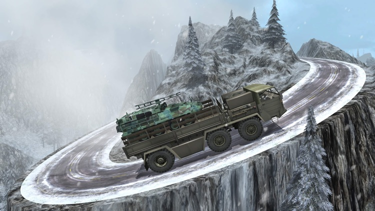 Army Heavy Truck Transport Cargo - Snow Driving 3D screenshot-3