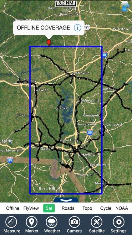 Lake Norman North Carolina HD - GPS fishing charts screenshot-4