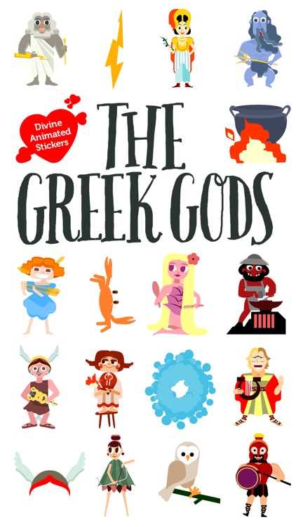 Greek Gods Animated Stickers screenshot-0