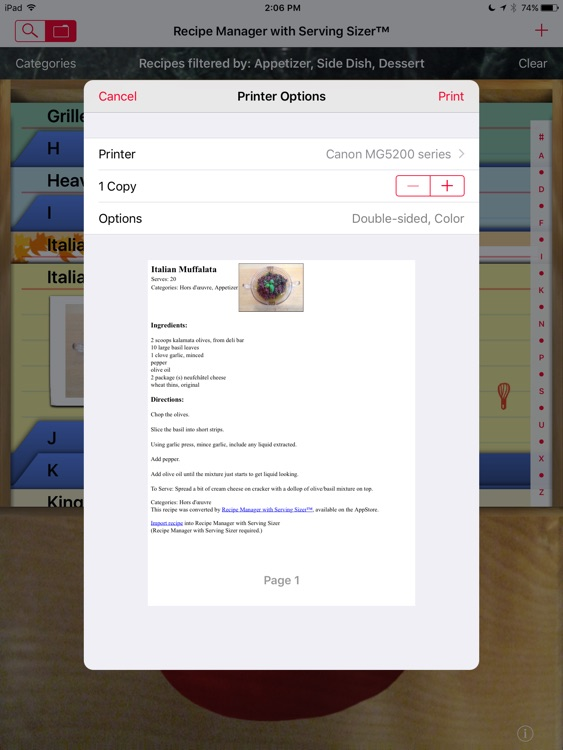Recipe Manager - Serving Sizer screenshot-4