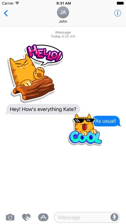Splashy Cats Stickers screenshot-4