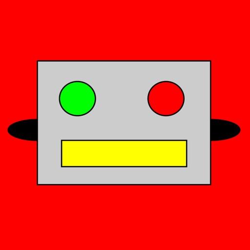 Animated Retro Robot Stickers