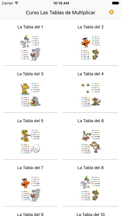 Audiocurso Las Tablas de Multiplicar
