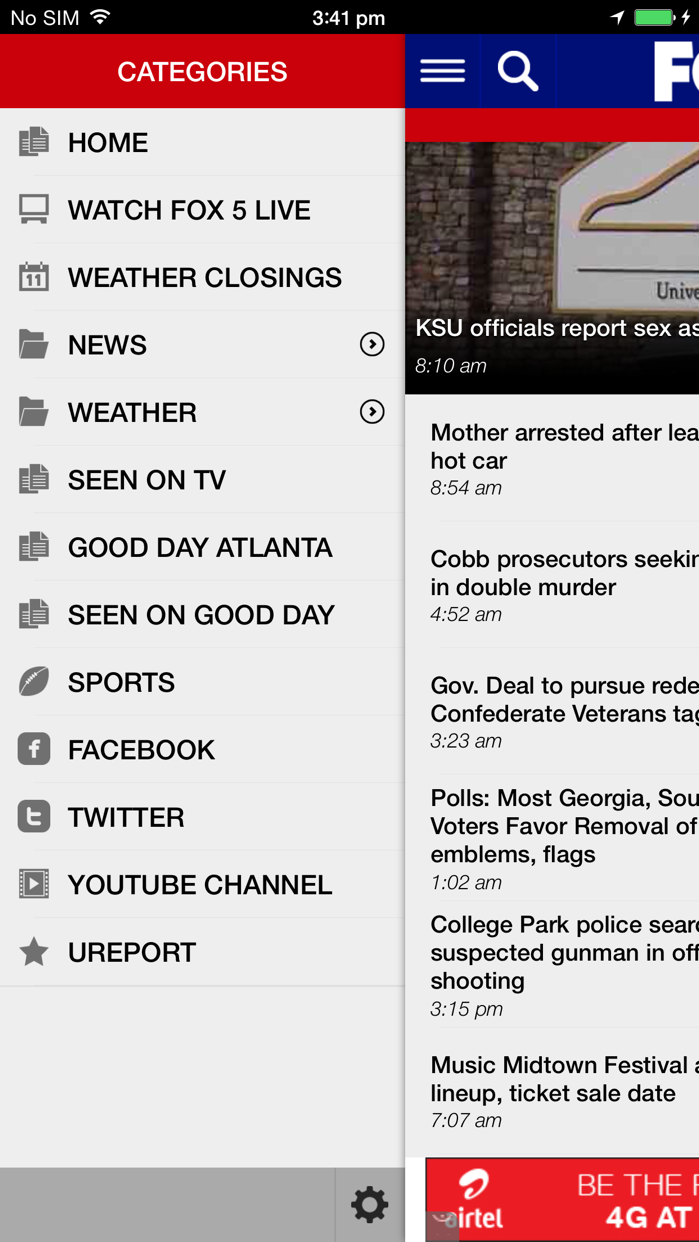 FOX 5 Atlanta Screenshot