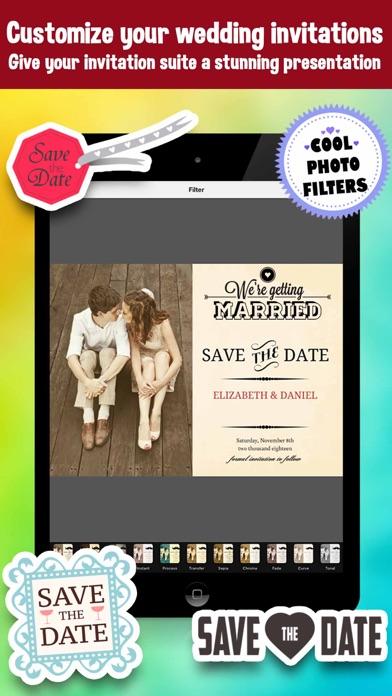save the date wedding invitation photo editor app price drops
