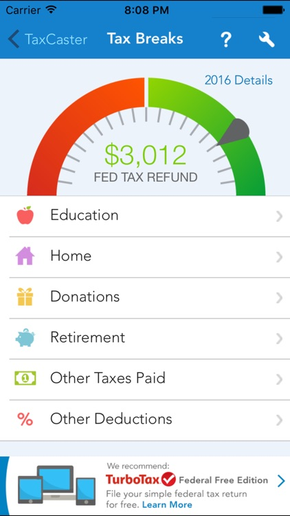 TaxCaster – Free tax refund calculator screenshot-3