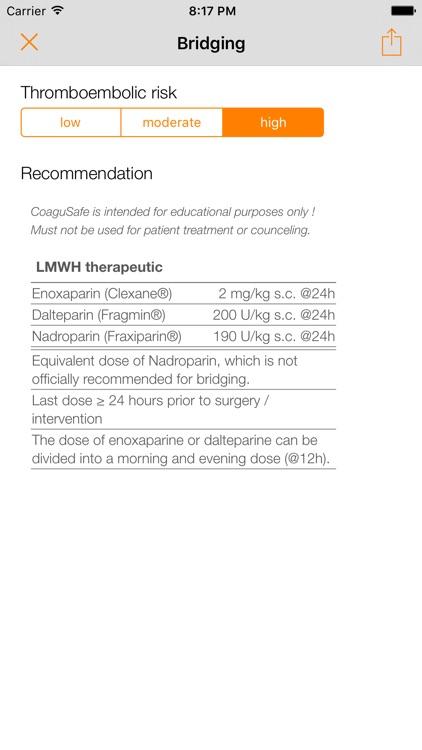CoaguSafe - Coagulation and invasive procedures screenshot-3
