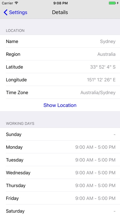 TimeTape Pro - Visual Time Zone Converter screenshot-3