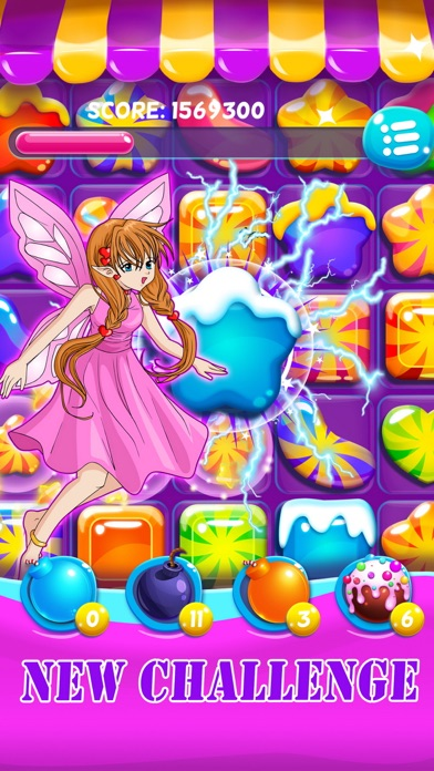 Ice princess - Christmas candy on frozen free fall