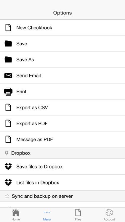 Checks Register Pro screenshot-4
