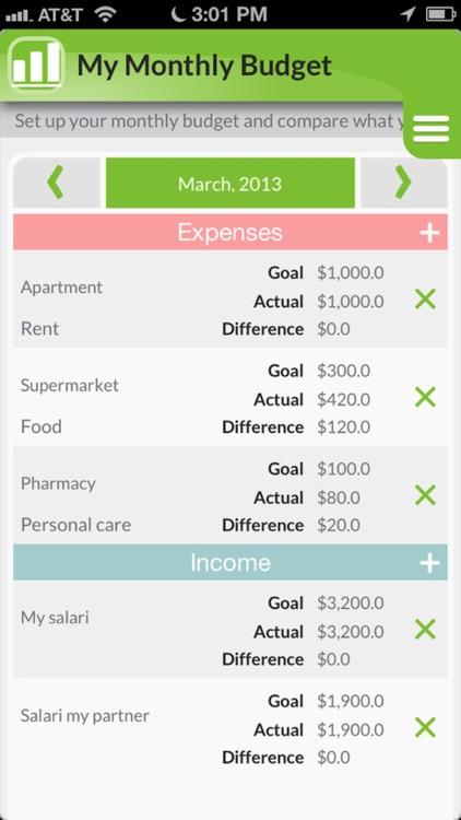 Money Money:  To track expenses & save money screenshot-4