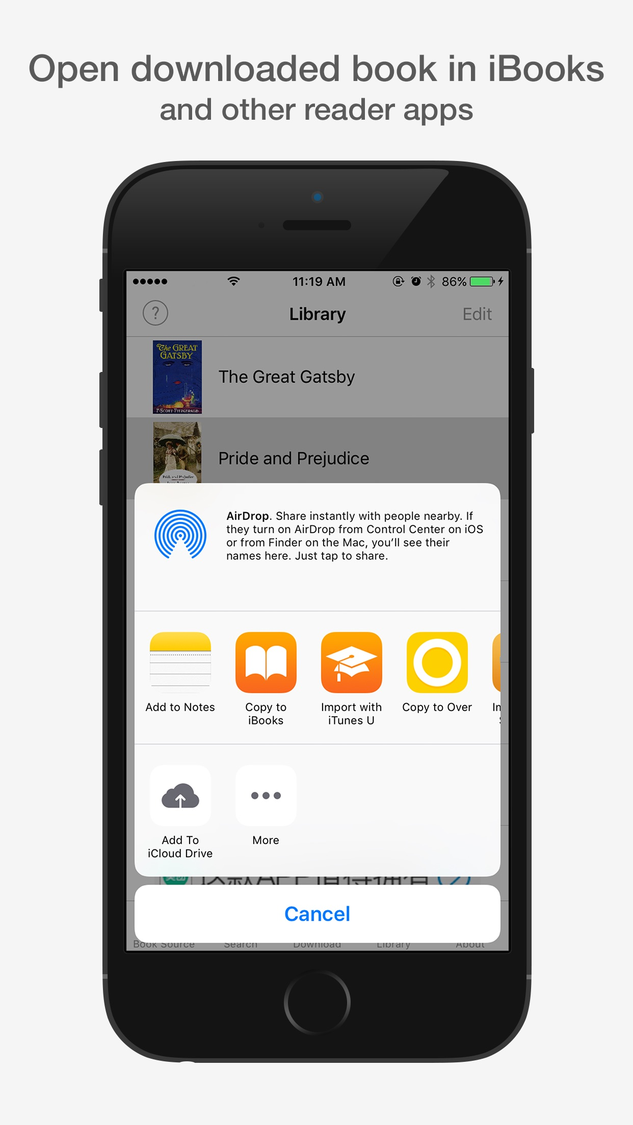 eBook Library Pro - search & get books for iPhone Screenshot