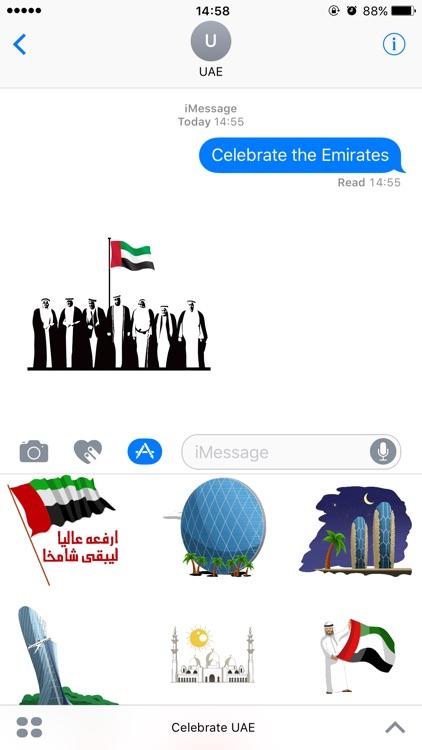 Celebrate the Emirates Stickers