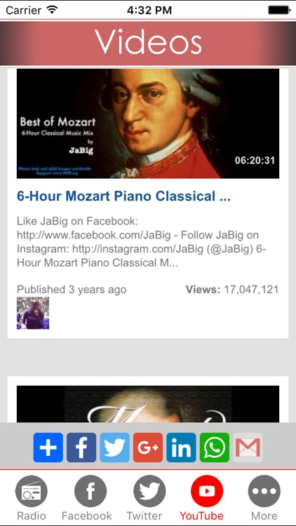 Mozart classic music online library - Listen to mozart concertos , sonatas , symphonies from live radio FM stations screenshot-3
