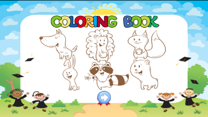 cute animal coloring for kid-learn skill easy toddler game free screenshot four