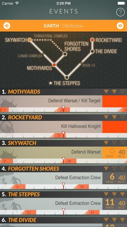 Events for Destiny Track Public Events Timers screenshot-3