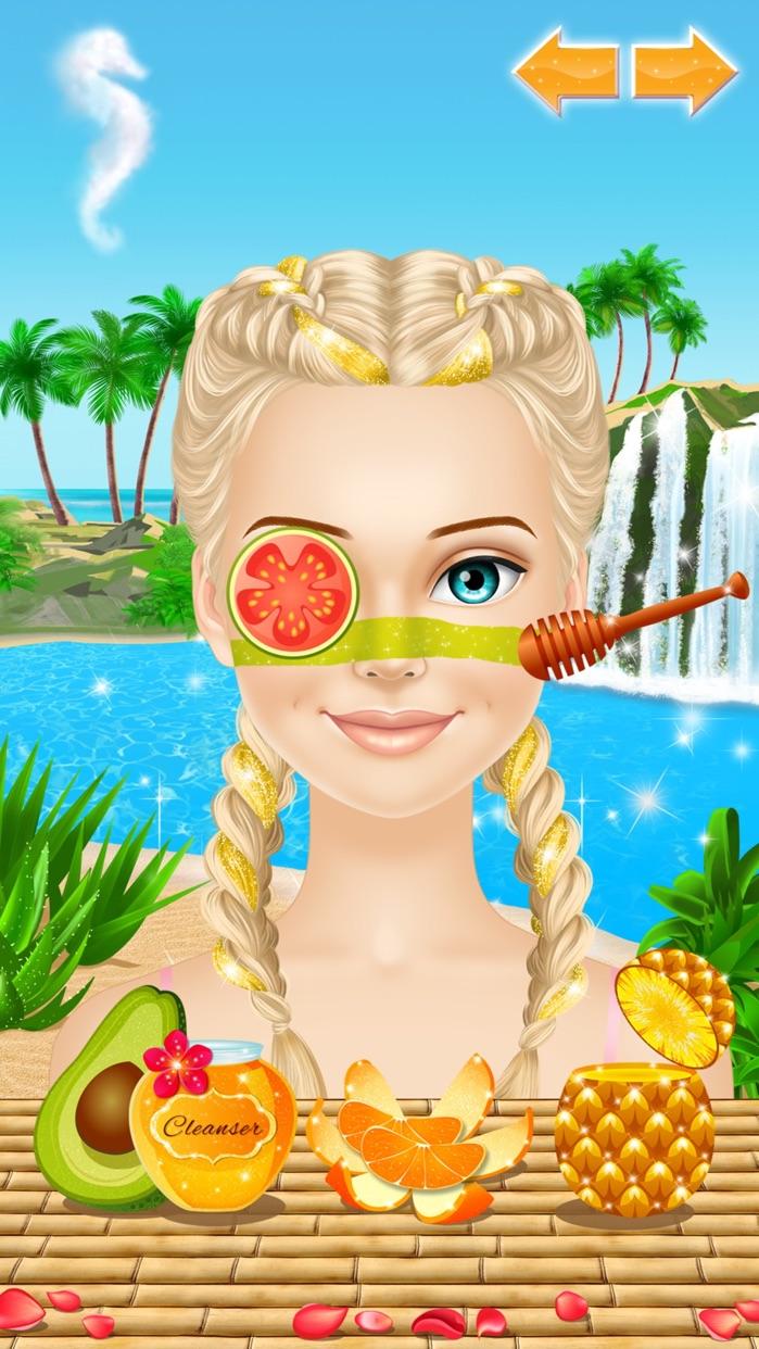 Tropical Princess: Girls Makeup and Dress Up Games Screenshot