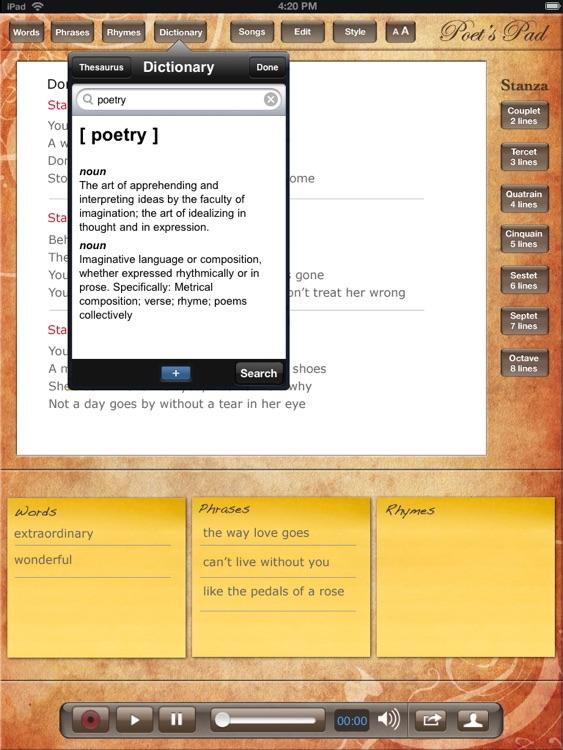 Poet's Pad™ screenshot-3
