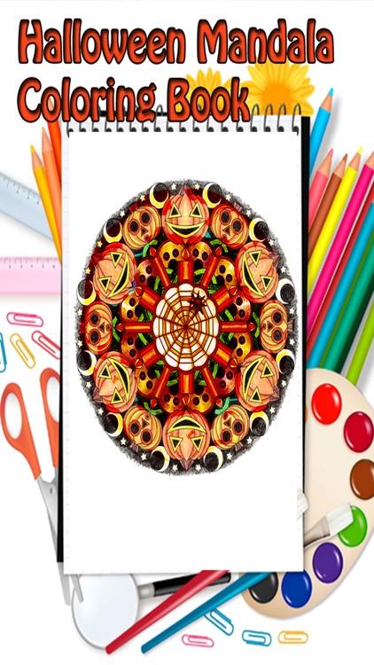 Halloween Mandala Coloring Book for kids
