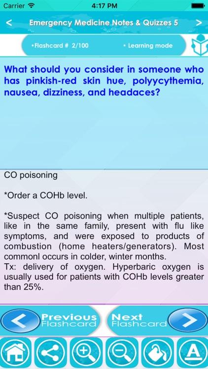 Emergency Medicine Exam Review App : 5200 Q&A