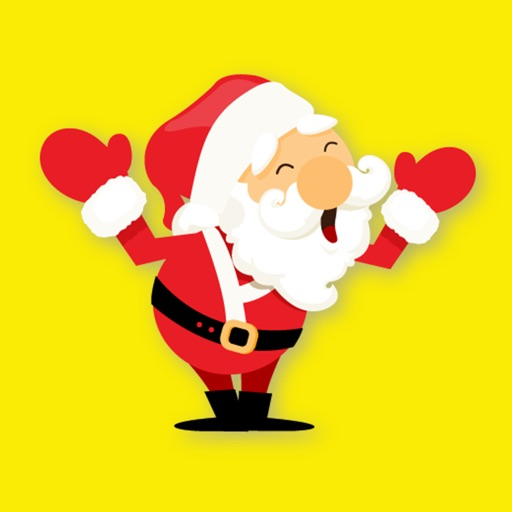 Santa Stickers Pack for Christmas iMessage Texting