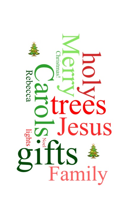 Create Custom Christmas Word Clouds
