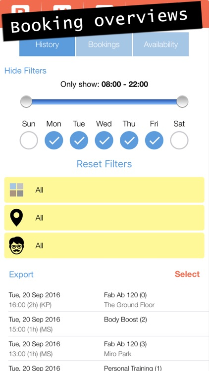 Bobclass - Appointment scheduling, client tracking screenshot-3