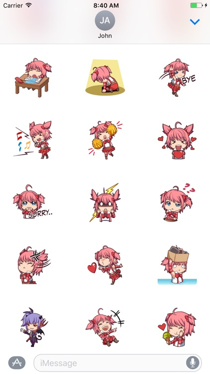 Small Pink Girl sticker pack for iMessage