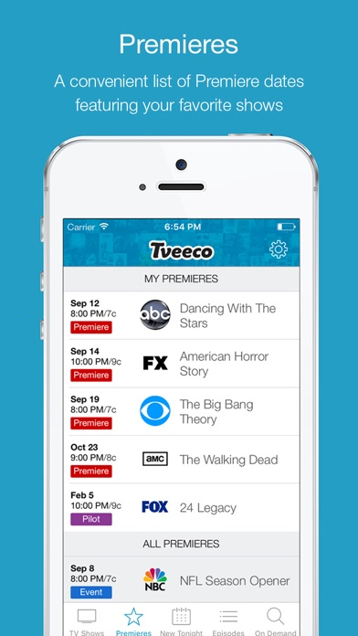 Tveeco - TV Listings Simplified
