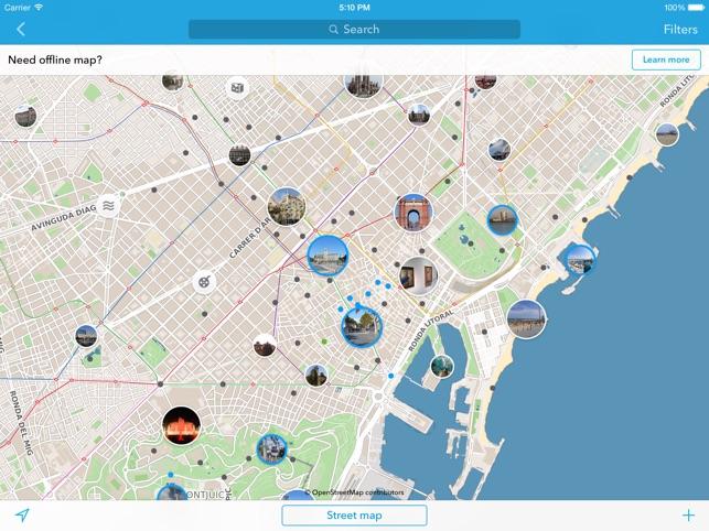 Barcelona Sehenswürdigkeiten Karte.Barcelona Offline Stadtplan Reiseführer Im App Store