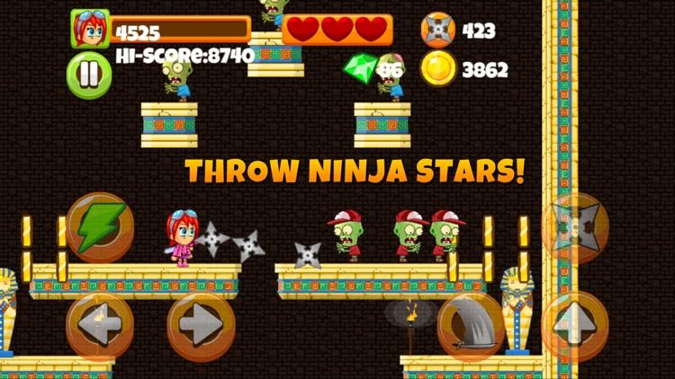 Ninja Kid vs Zombies - 8 Bit Retro Game screenshot-3