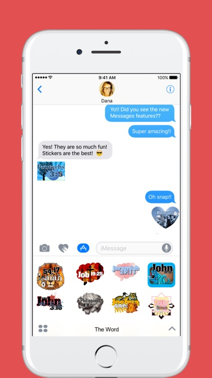 The Word stickers for iMessage