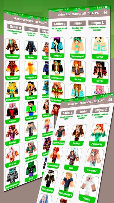 Skins For Minecraft Pe Pc review screenshots