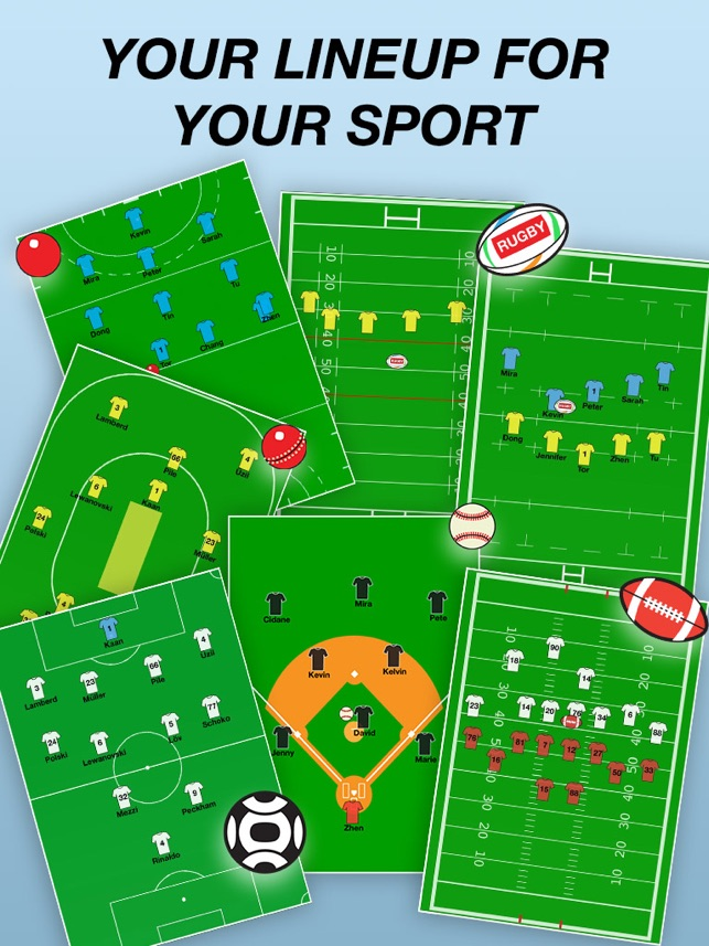 Team lineup soccer rugby etc on the app store pronofoot35fo Gallery