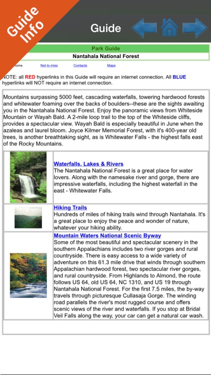Nantahala National Forest gps outdoor map screenshot-3