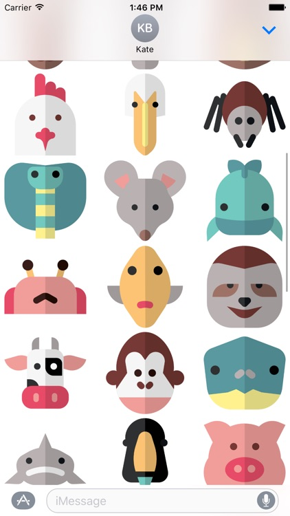 Animal Stickers and Emoji - Cute Pets