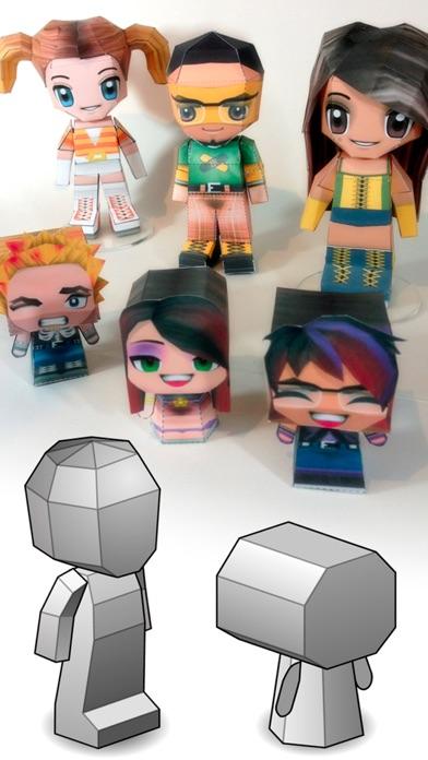 Screenshot #9 for PaperChibi Lite - Free Avatar Papercraft