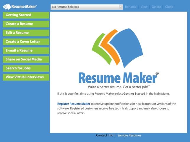 Resume MakerR Platinum