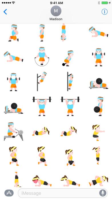 Workoutmoji - Workout Emojis and Stickers screenshot three