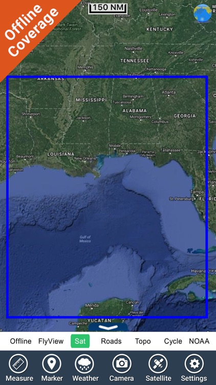 Louisiana Mississippi Alabama HD GPS Map Navigator screenshot-4