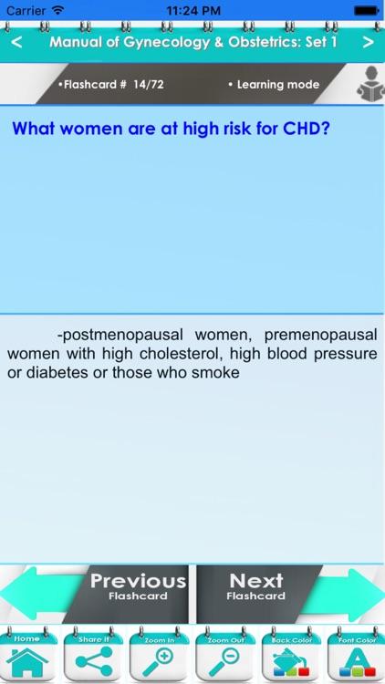 Manual of Gynecology & Obstetrics 1500 Exam Quiz screenshot-3