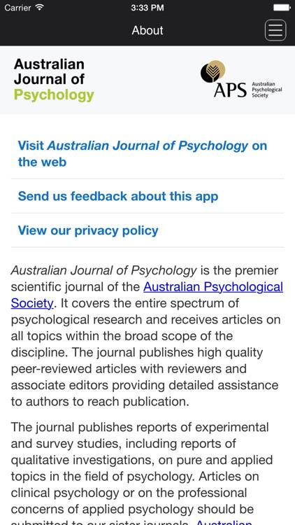 Australian Journal of Psychology
