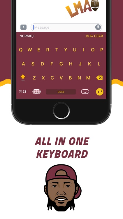 NORMOJI - Official Josh Norman Emoji Keyboard screenshot-3
