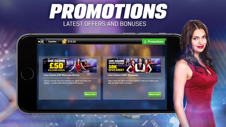 Coral Live Casino - Roulette, Baccarat & Blackjack screenshot-3