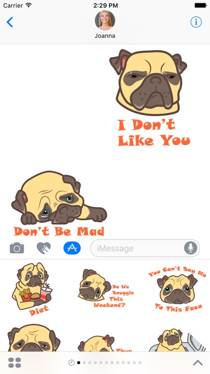 Puggy the Pug Stickers
