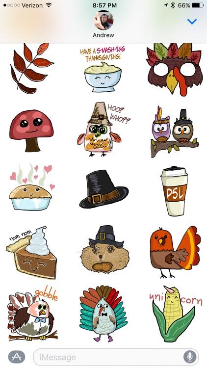 Thanksgiving Fall Stickers screenshot-3