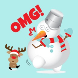 Snowman Stickers for iMessage