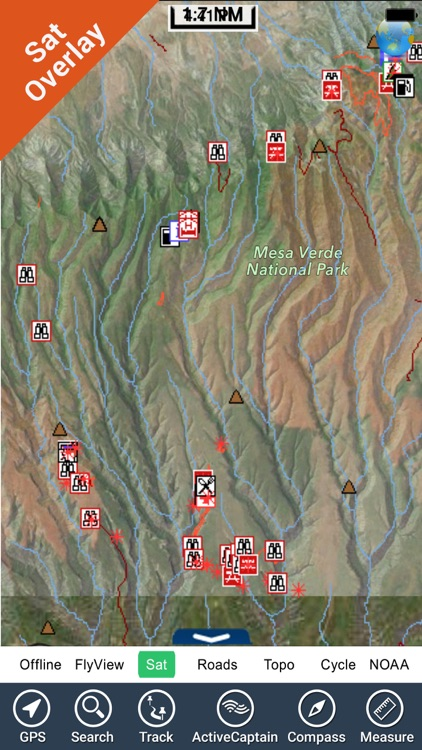 Mesa Verde Park  GPS and outdoor map with guide screenshot-3